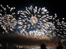 We were lucky to be in Vancouver during a fireworks competition