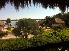The Bacalar lagoon resort with hardly anyone there it was blissful