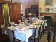 Dinner setting in the main house