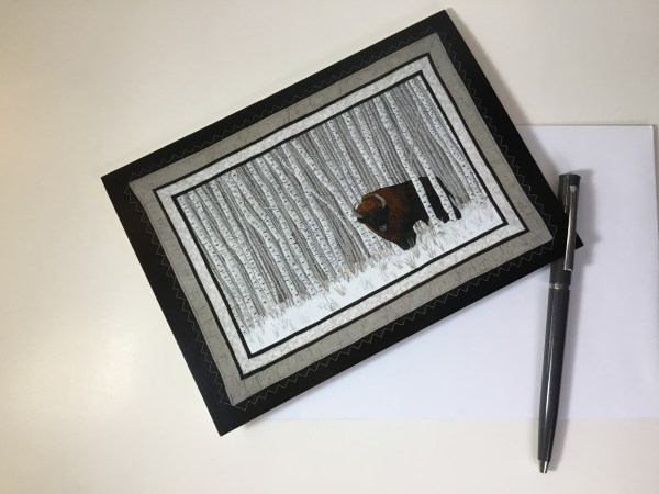 ArtCard Manitoba Bison in the Woods by Bridget O'Flaherty