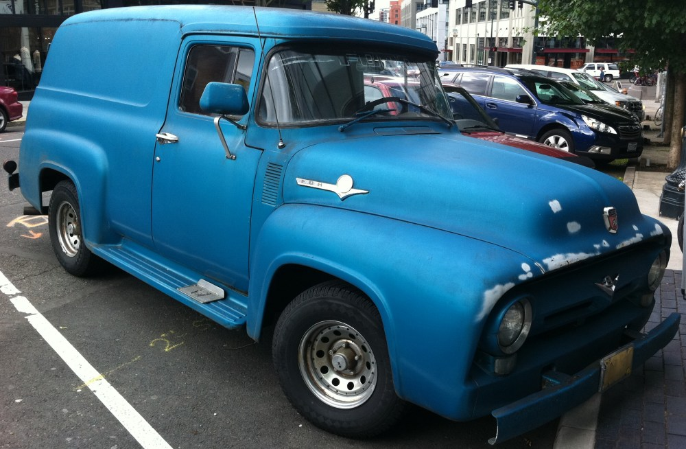 medium resolution of 1956 ford f100 panel van v8