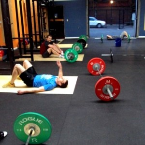 Hang power Clean and Burpees
