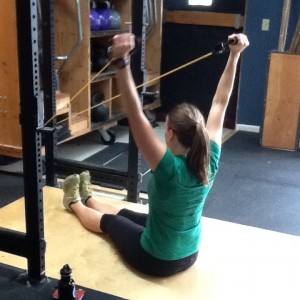 Face Pull and Press for Shoulder stability in Snatch and Overhead Squat Bridgetown CrossFit and Barbell Club
