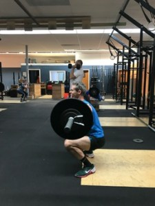 Nathan Front Squat in Crossfit MetCon