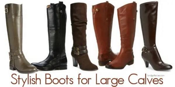 Women's dress boots for large calves
