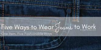 wear jeans to work