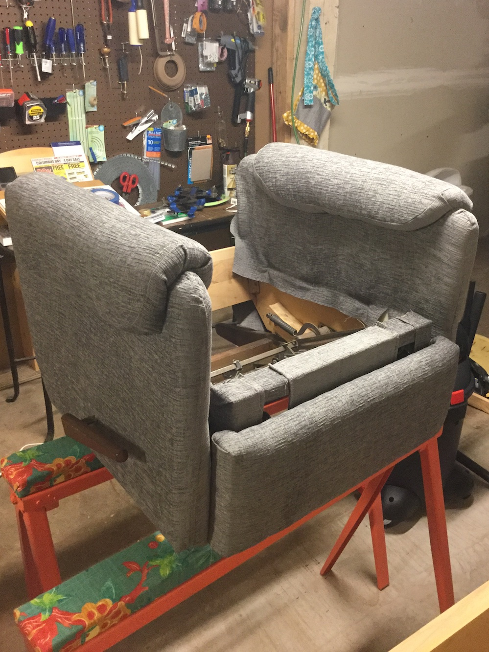 Custom Upholstery of Vintage LaZBoy Recliners