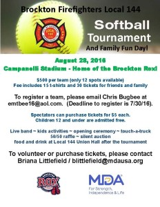 Bridgewater Firefighters to Participate in MDA Charity Softball Game