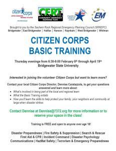 Citizen Corps/CERT Basic Training Course Announced