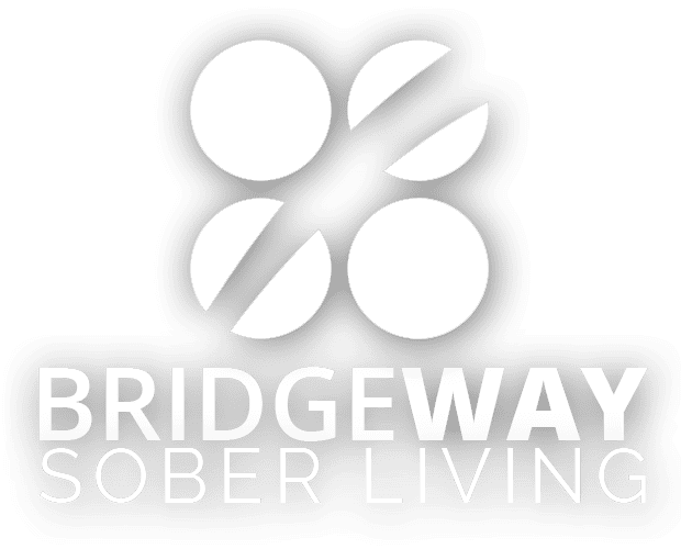 Bridgeway Sober Living logo with beautiful picture of lake Austin in the background and a few paragraphs with a message from Bridgeway.