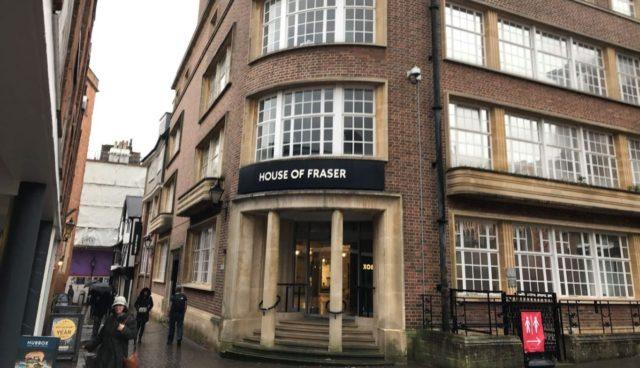 House of Fraser building in Exeter