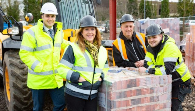 (L-R) Together's Jonathan Sally, Jenny Campbell, Collin Russon and Tom Campbell on site