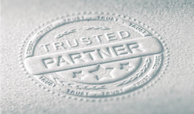 trusted partner black & white bridging
