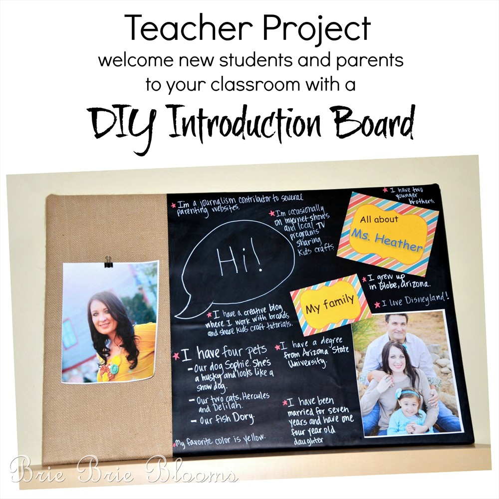 Teacher Project DIY Introduction Board Brie Brie Blooms
