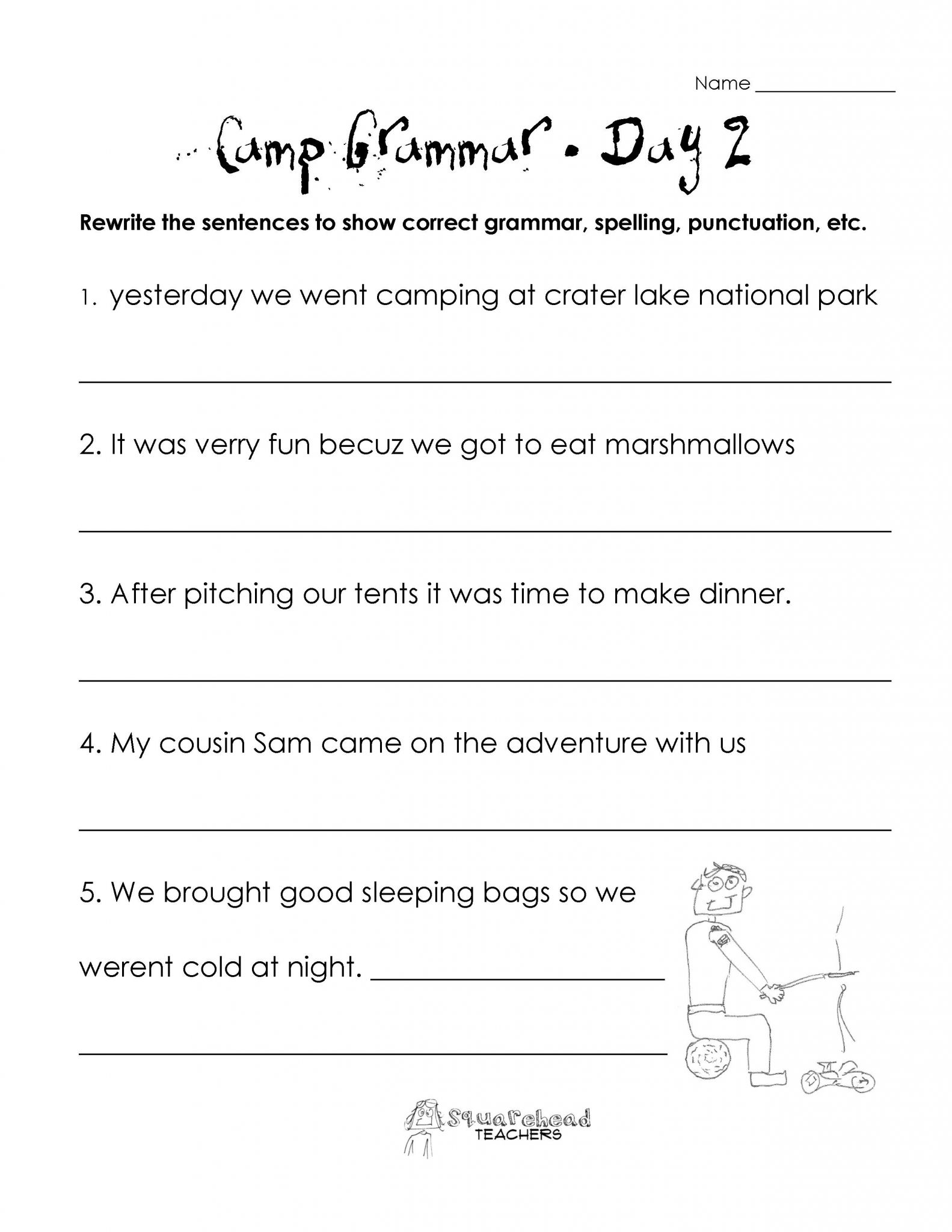 English Worksheet Grade 7