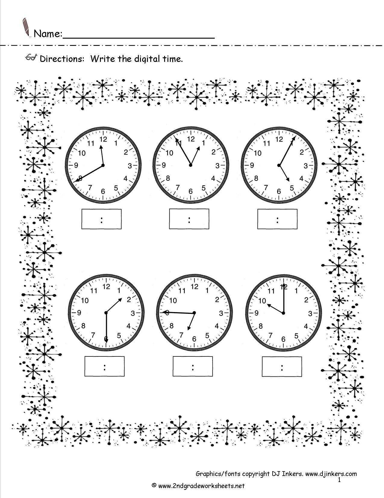 hight resolution of Telling Time Worksheet For Grade 3   Printable Worksheets and Activities  for Teachers