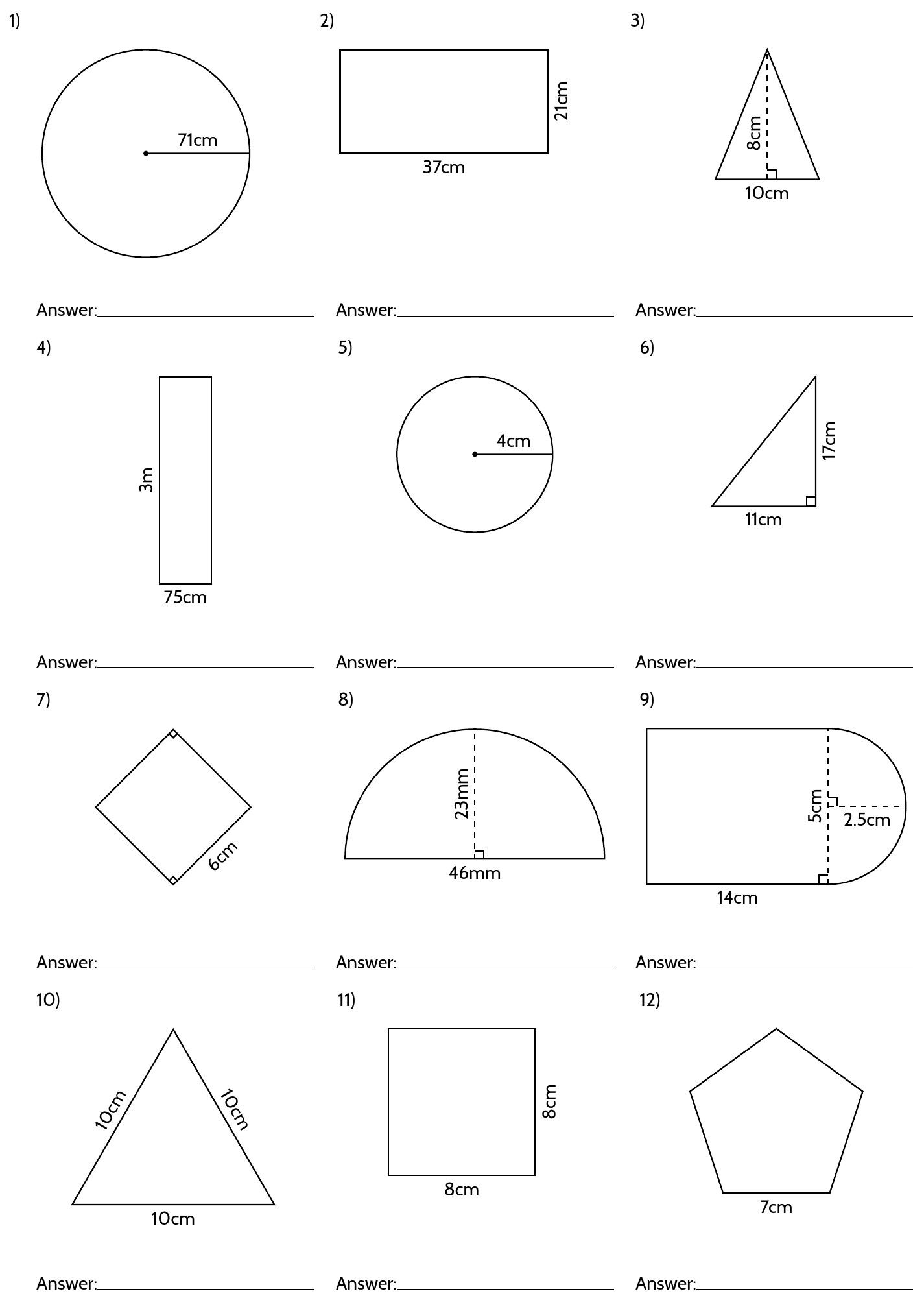 hight resolution of Geomery Volume 6th Grade Worksheets   Printable Worksheets and Activities  for Teachers