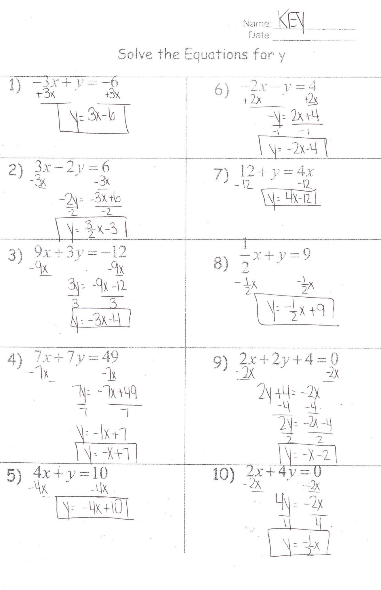 7th Grade Inequalities Worksheet