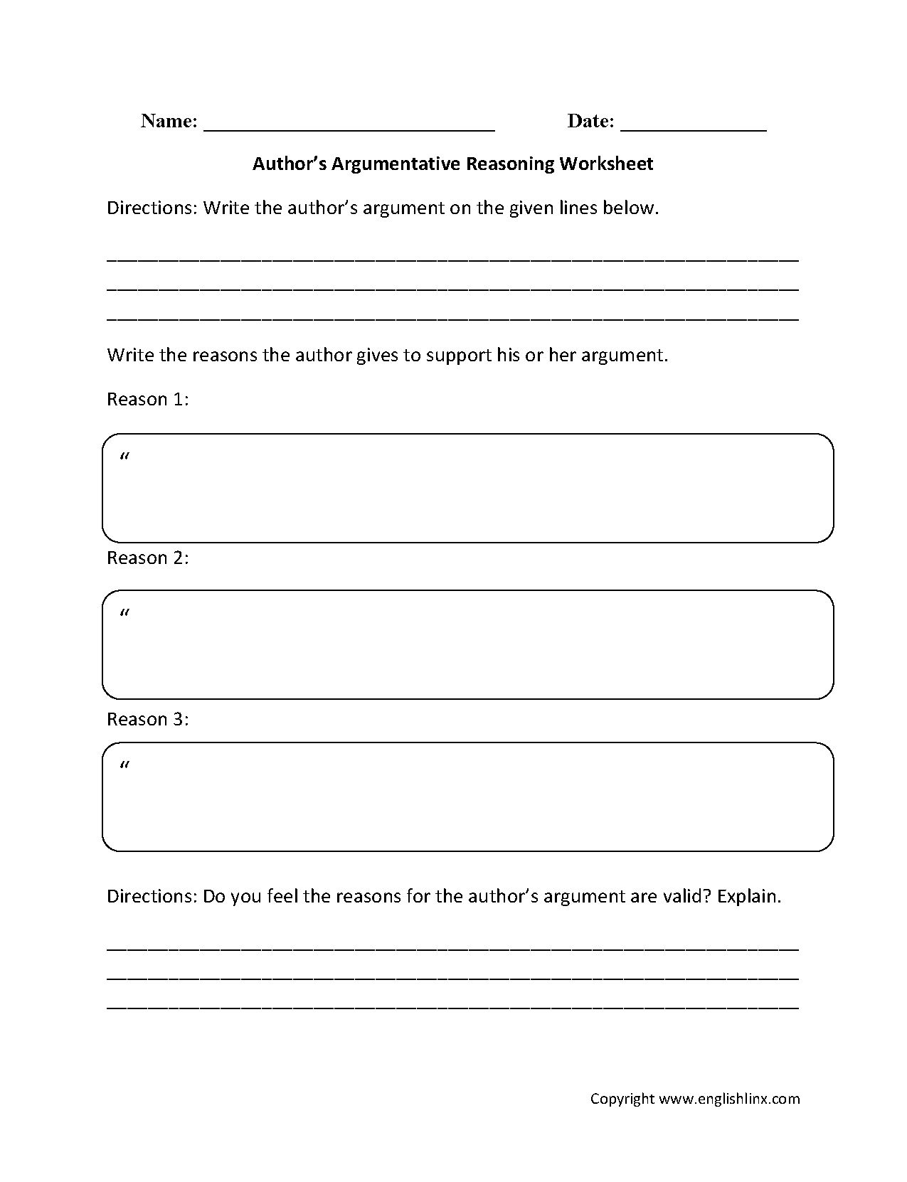 Grade 4 Prehension Worksheet