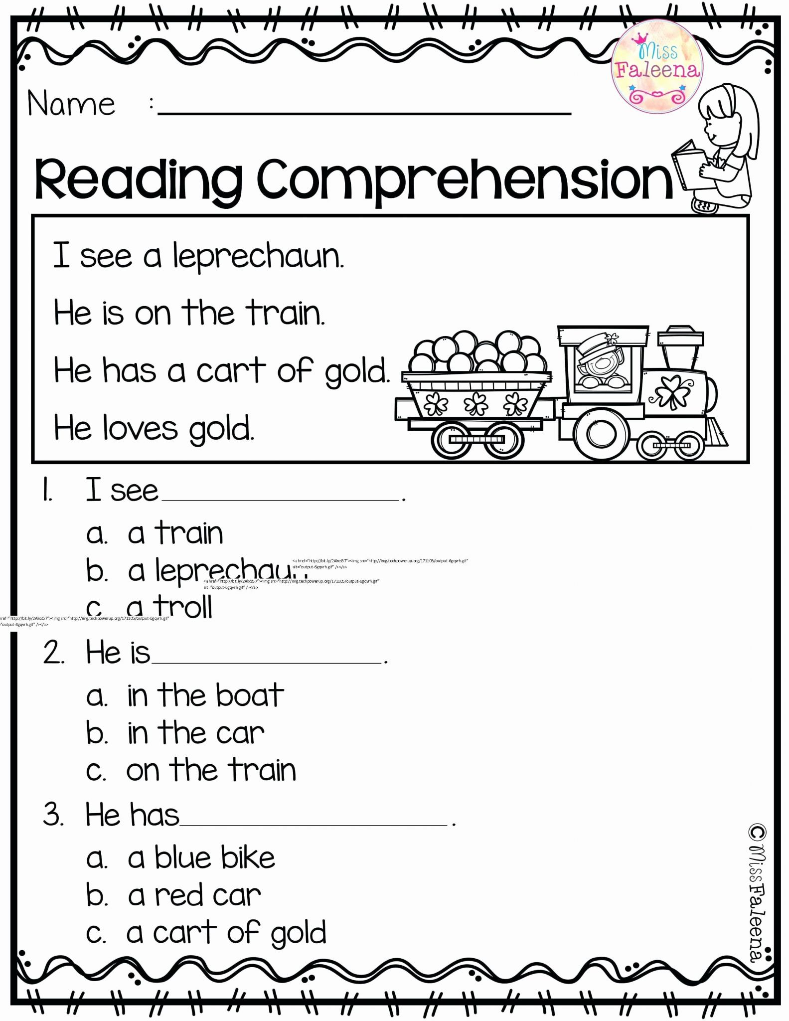5th Grade Reading And Comprehension Worksheet