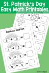 Simple St Patricks Day Math Printables