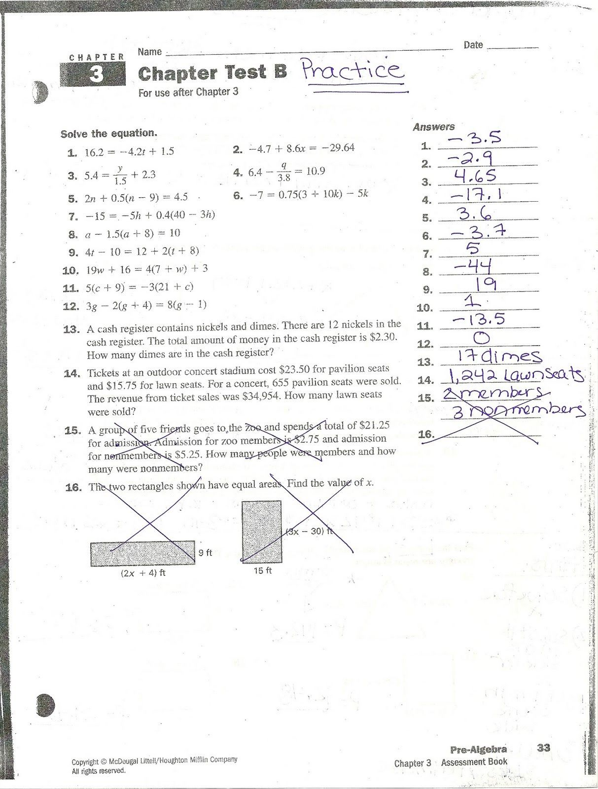 Algebra 2 Exponent Practice Worksheet Answers