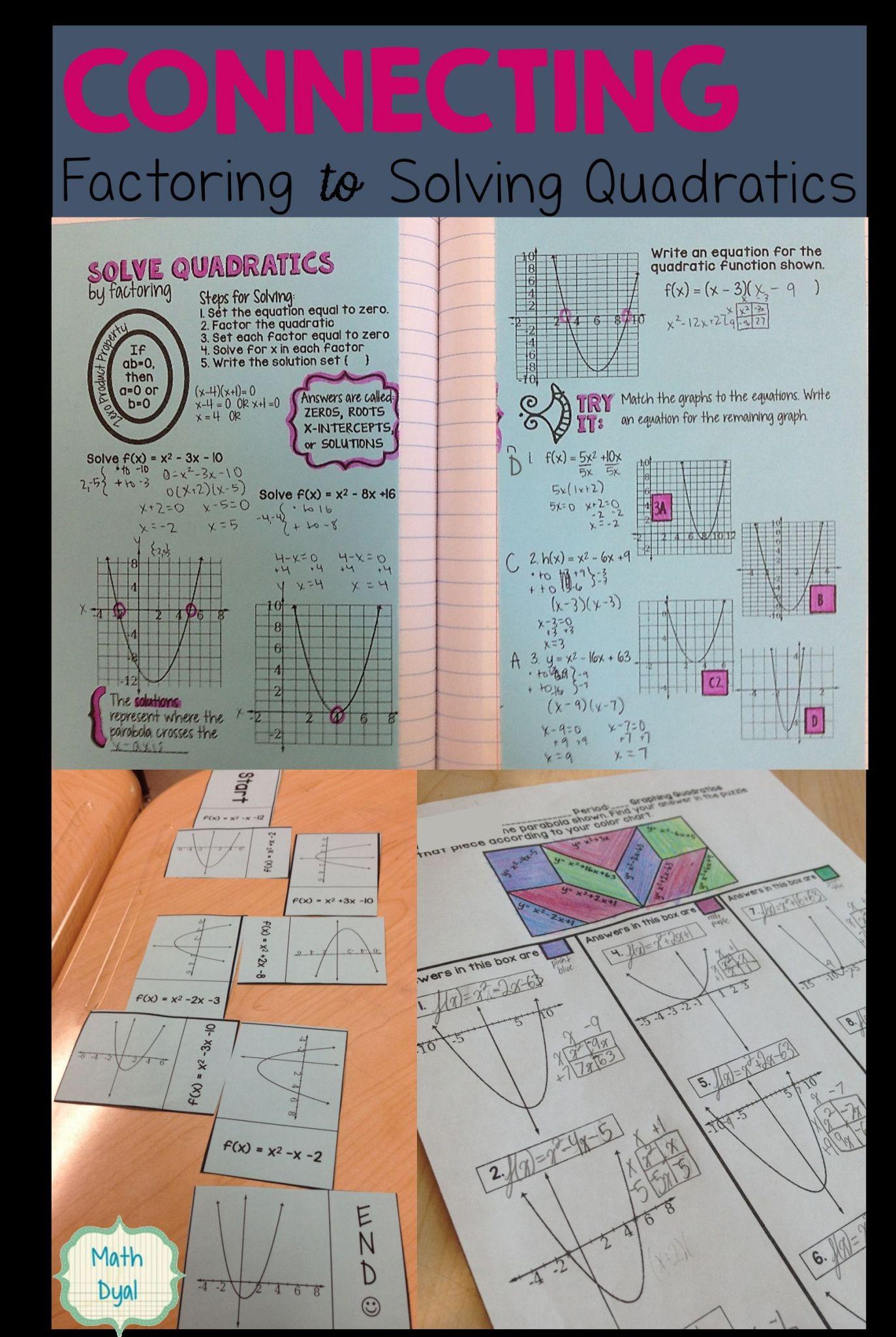 Algebra 2 Factoring Quadratics Worksheet