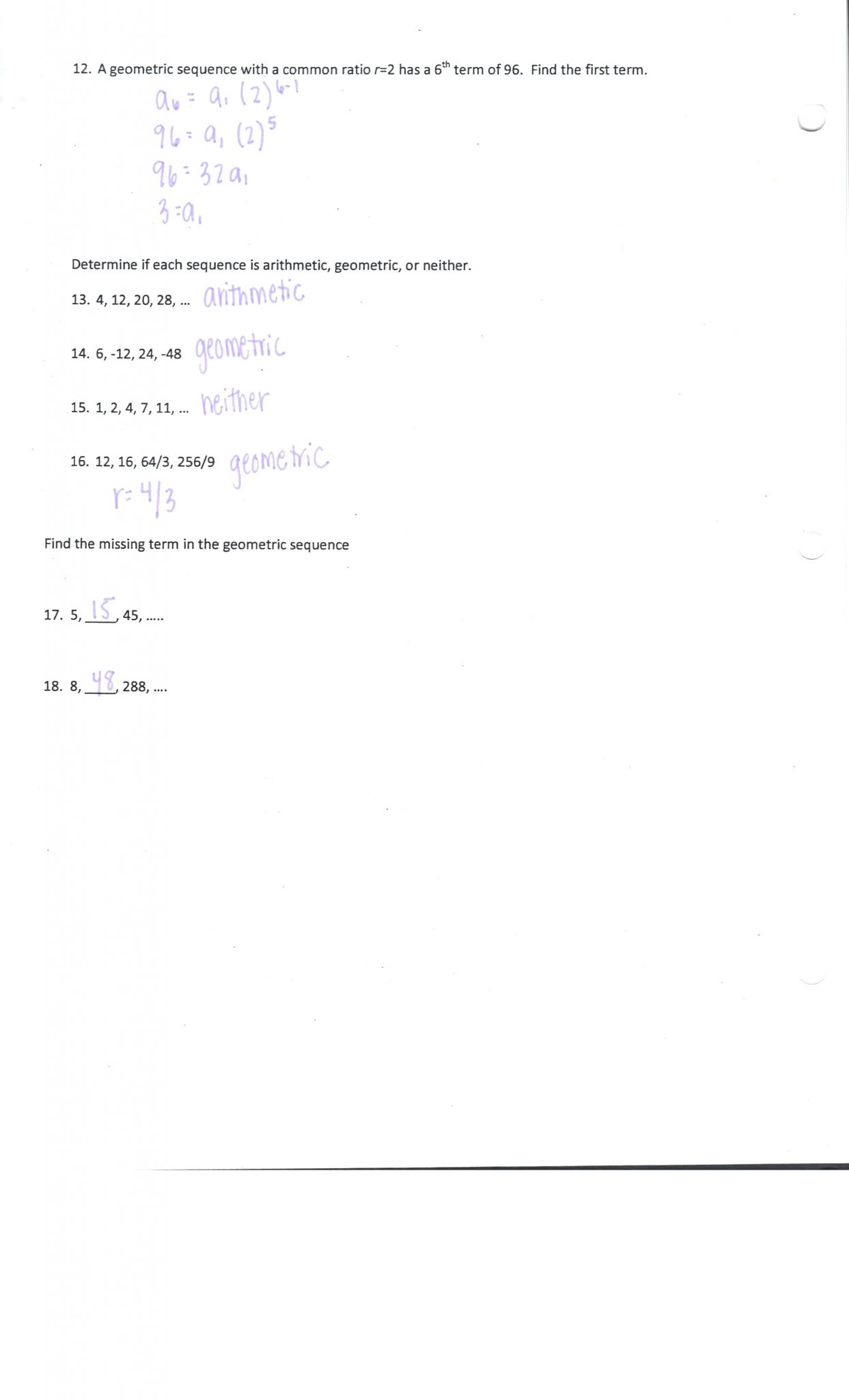 hight resolution of Exponential Sequences Worksheets   Printable Worksheets and Activities for  Teachers