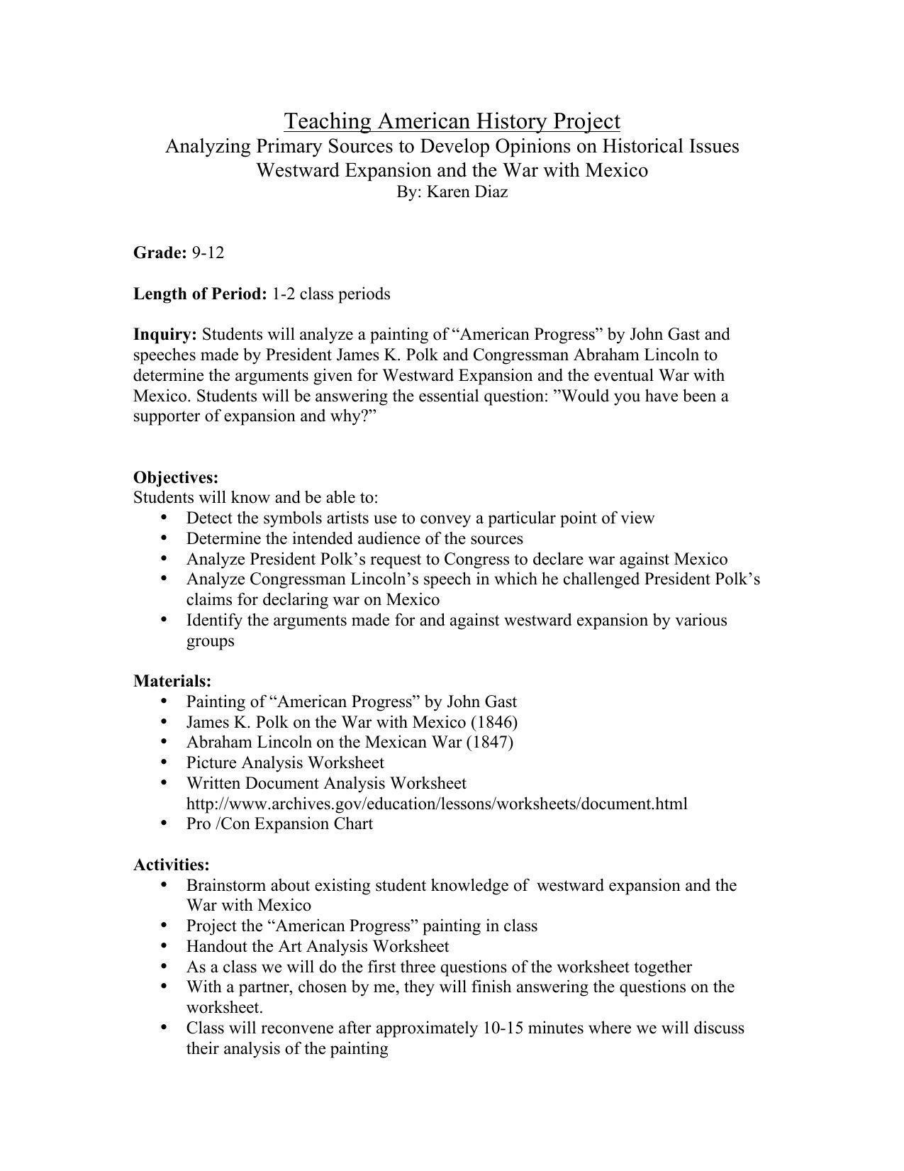 Artysis Worksheet