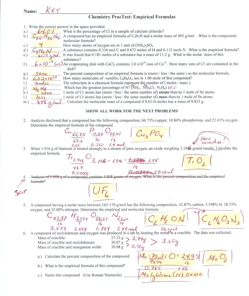 Balancing Chemical Equations Worksheet 1 Answers Briefencounters – Cute766