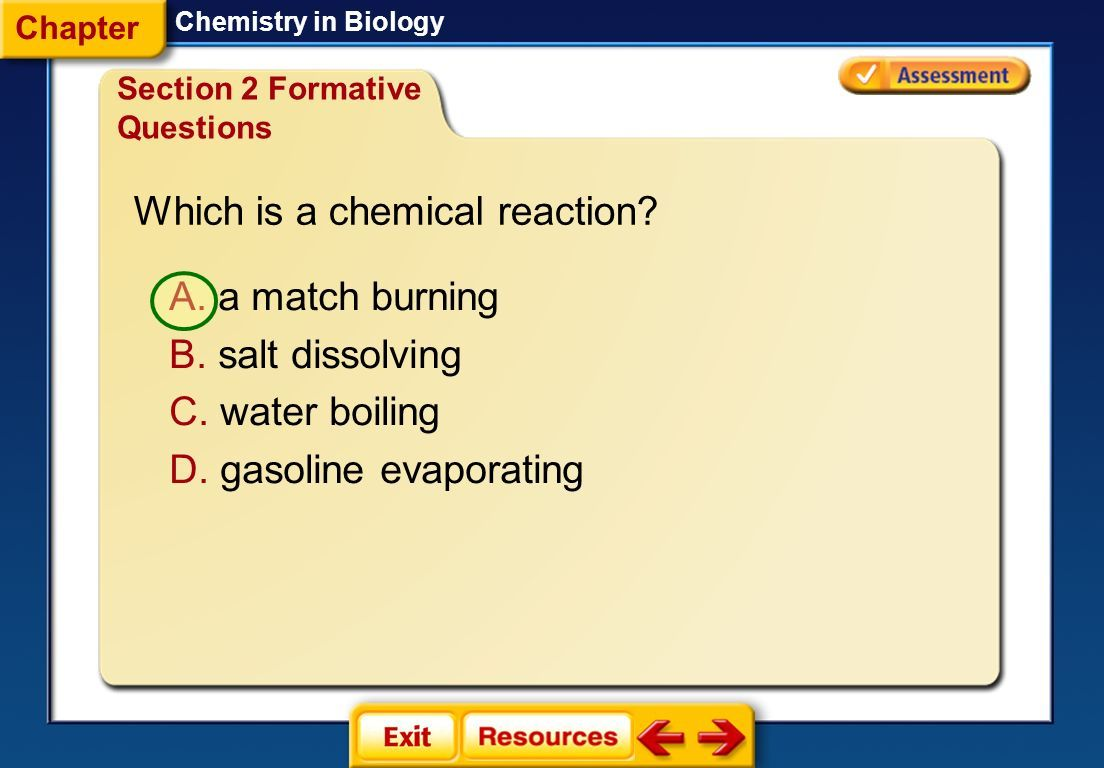 Biology Chapter 2 The Chemistry Of Life Worksheet Answers