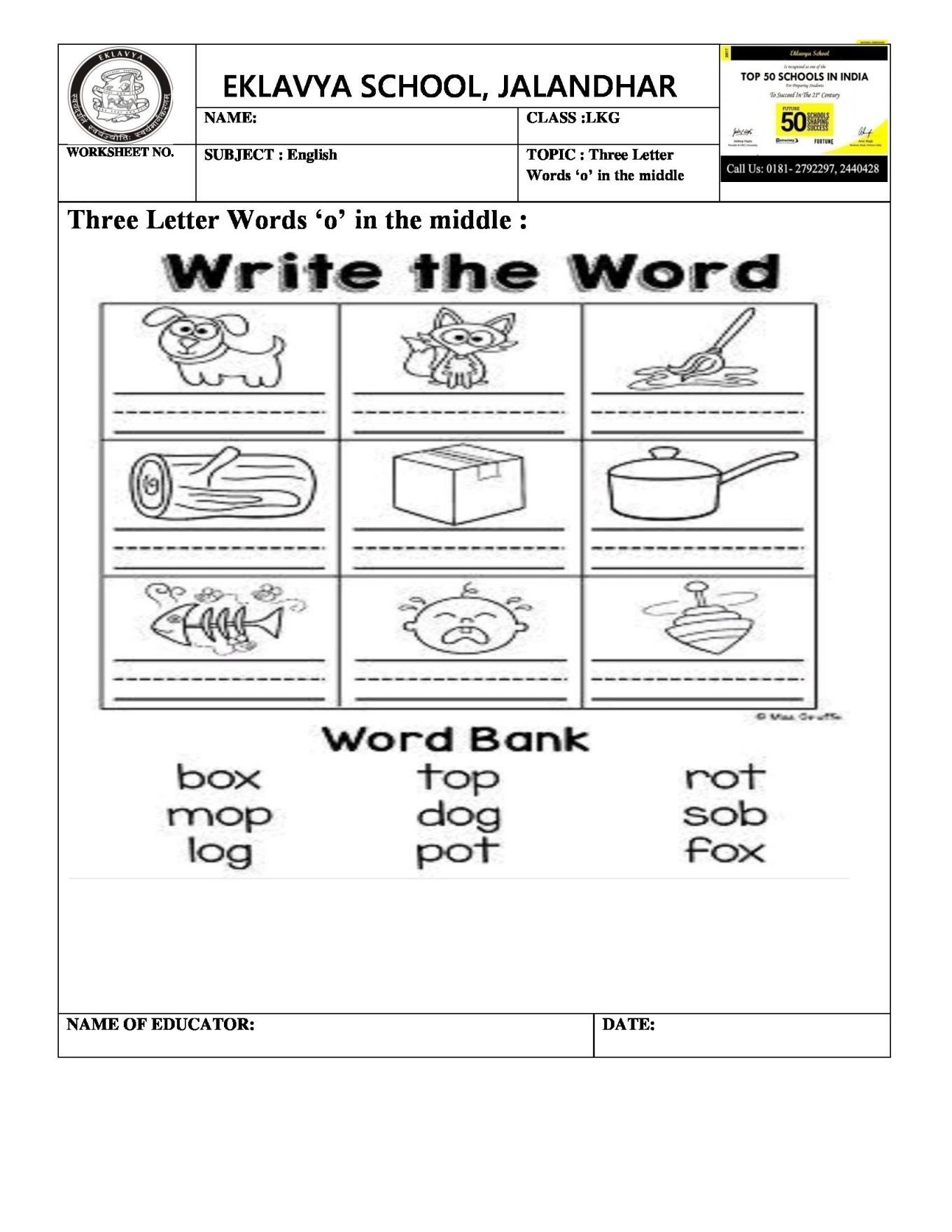 Career Worksheets For Middle School