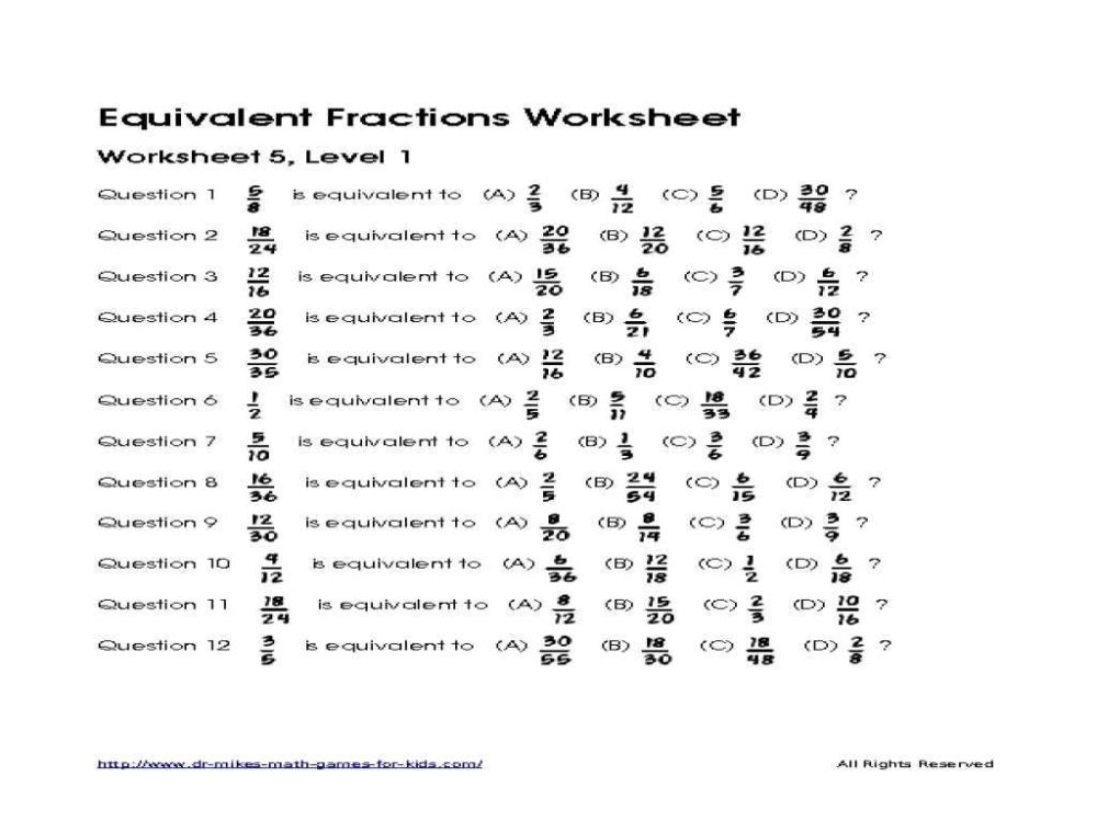 medium resolution of Equivalent Fractions Worksheets 2nd Grade   Printable Worksheets and  Activities for Teachers