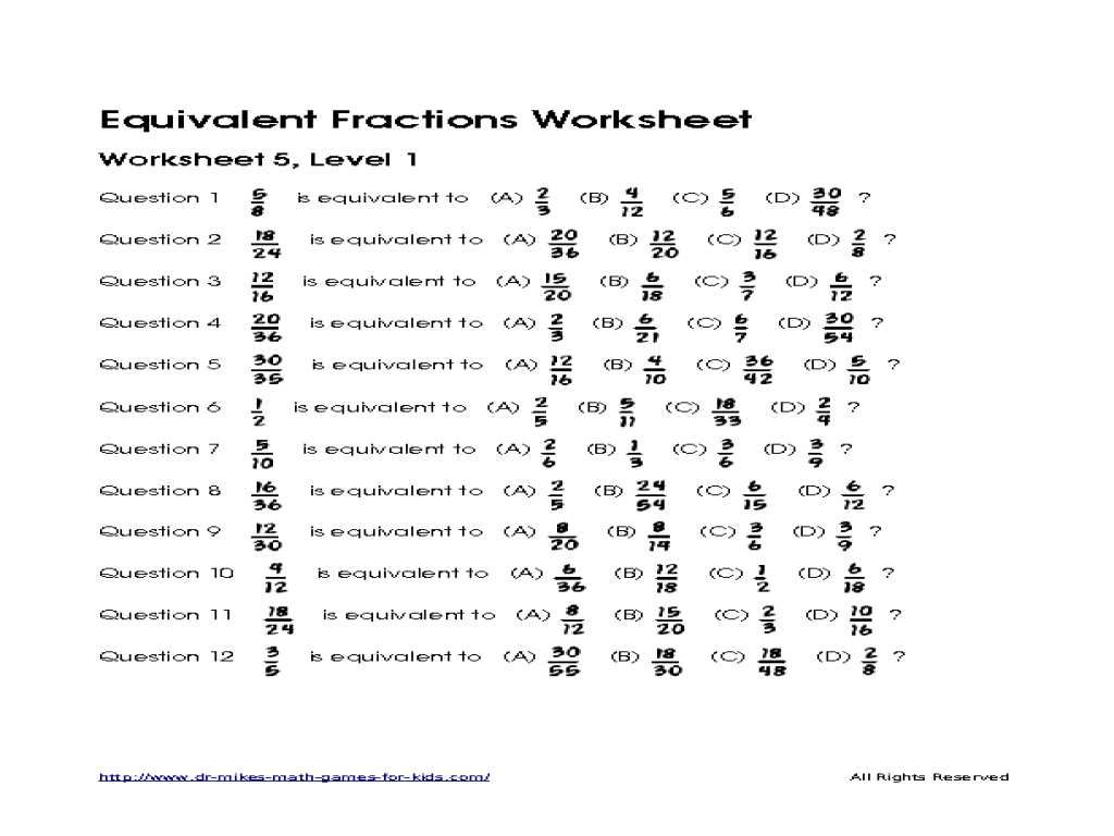 hight resolution of Equivalent Fractions Worksheets 2nd Grade   Printable Worksheets and  Activities for Teachers