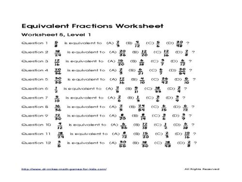small resolution of Equivalent Fractions Worksheets 2nd Grade   Printable Worksheets and  Activities for Teachers
