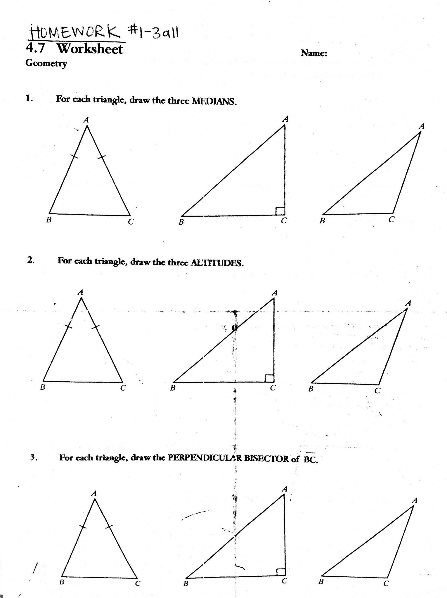 Chapter 4 Congruent Triangles Worksheet Answers