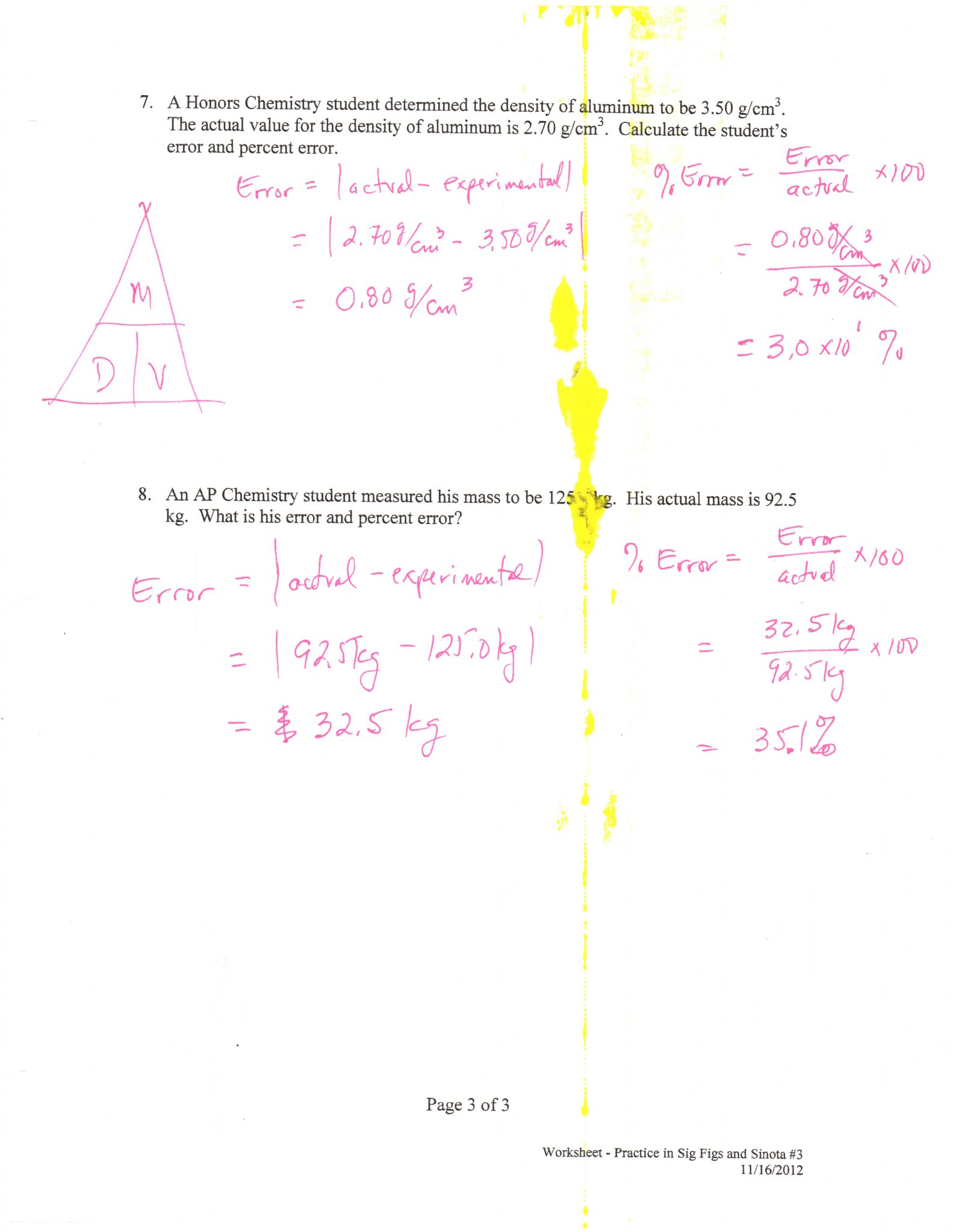 Chemistry Chapter 11 Worksheet Answers