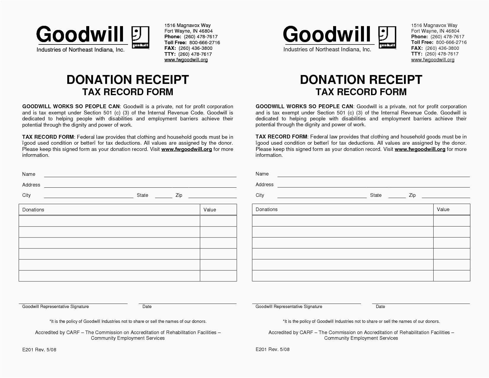 Clothing Donation Tax Deduction Worksheet
