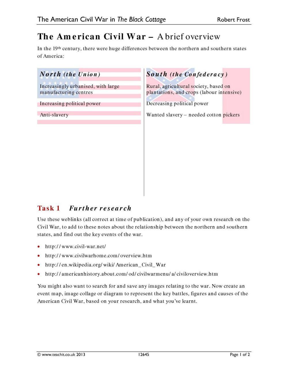 medium resolution of Civil War Vocabulary Worksheet - Nidecmege