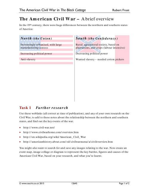 small resolution of Civil War Vocabulary Worksheet - Nidecmege