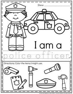 Community Helpers Police Officer Worksheet