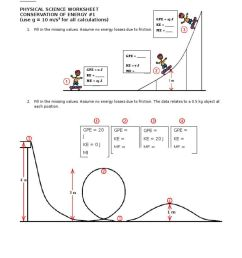 Conservation Of Energy Worksheet Answers - Promotiontablecovers [ 1024 x 768 Pixel ]