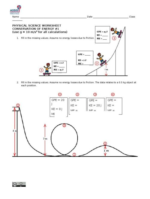 small resolution of Conservation Of Energy Worksheet Answers - Promotiontablecovers