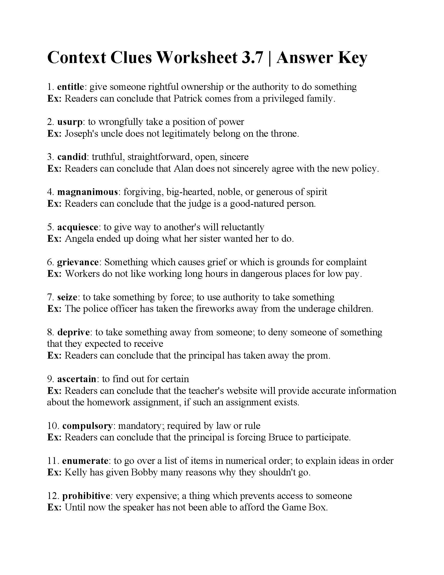 hight resolution of Sample Worksheet For Context Clues   Printable Worksheets and Activities  for Teachers