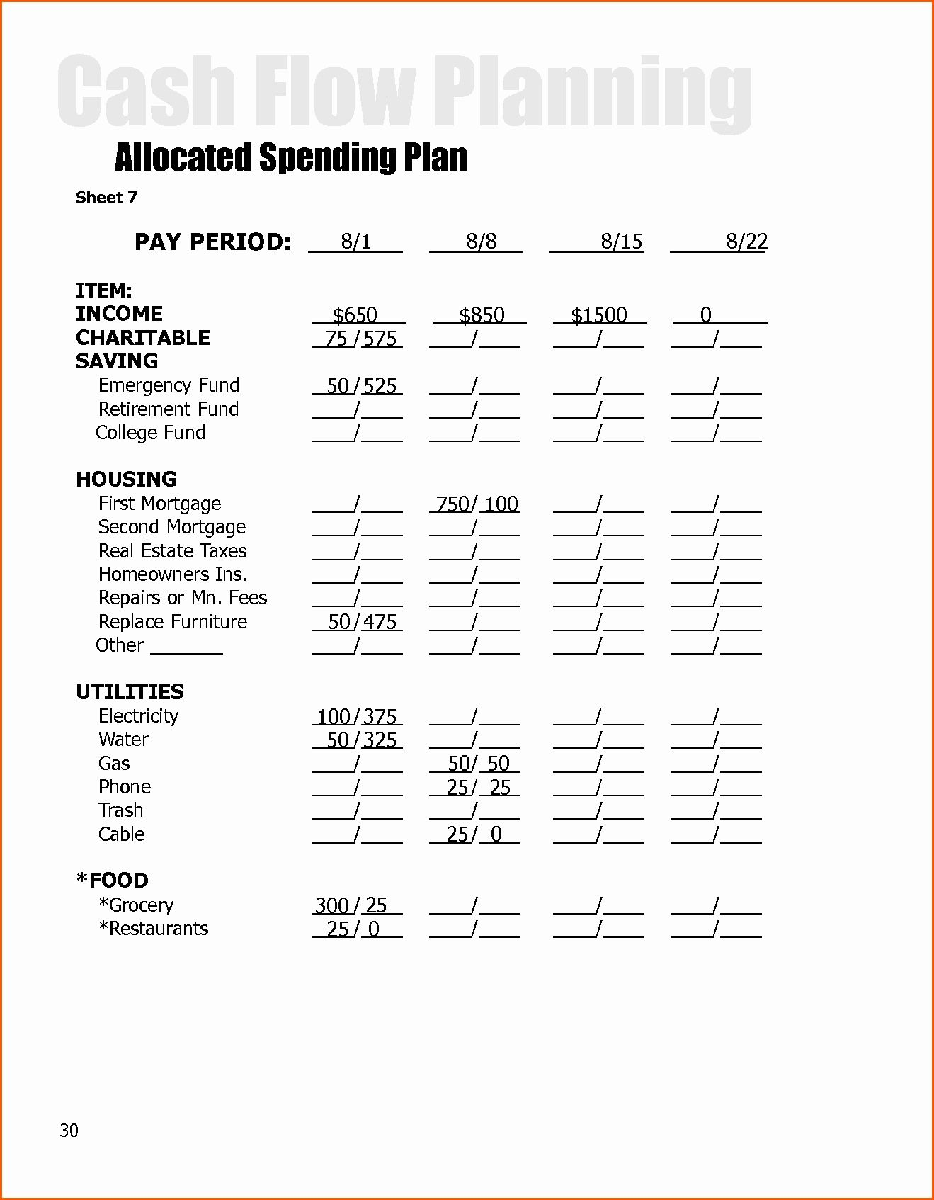 Dave Ramsey Debt Snowball Worksheets