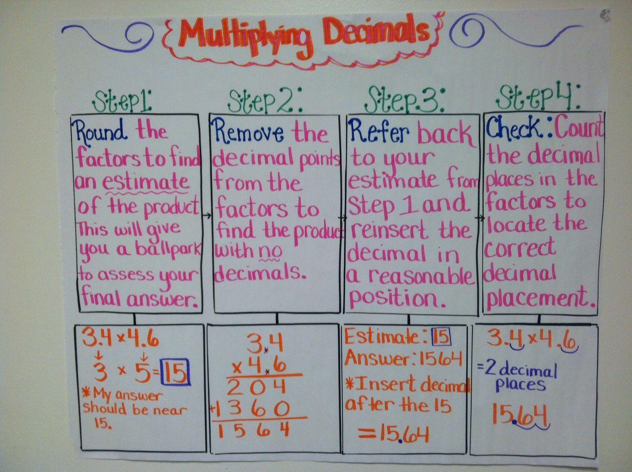 Decimal Multiplication And Division Worksheet