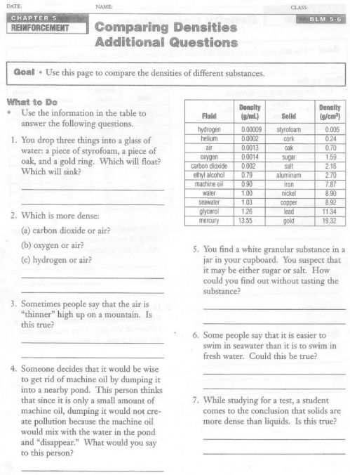 small resolution of 35 Science 8 Density Calculations Worksheet Answers Key - Worksheet  Resource Plans