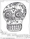 D­a de los Muertos coloring page Skull Crafts Craft Activities Travel Activities Pablo