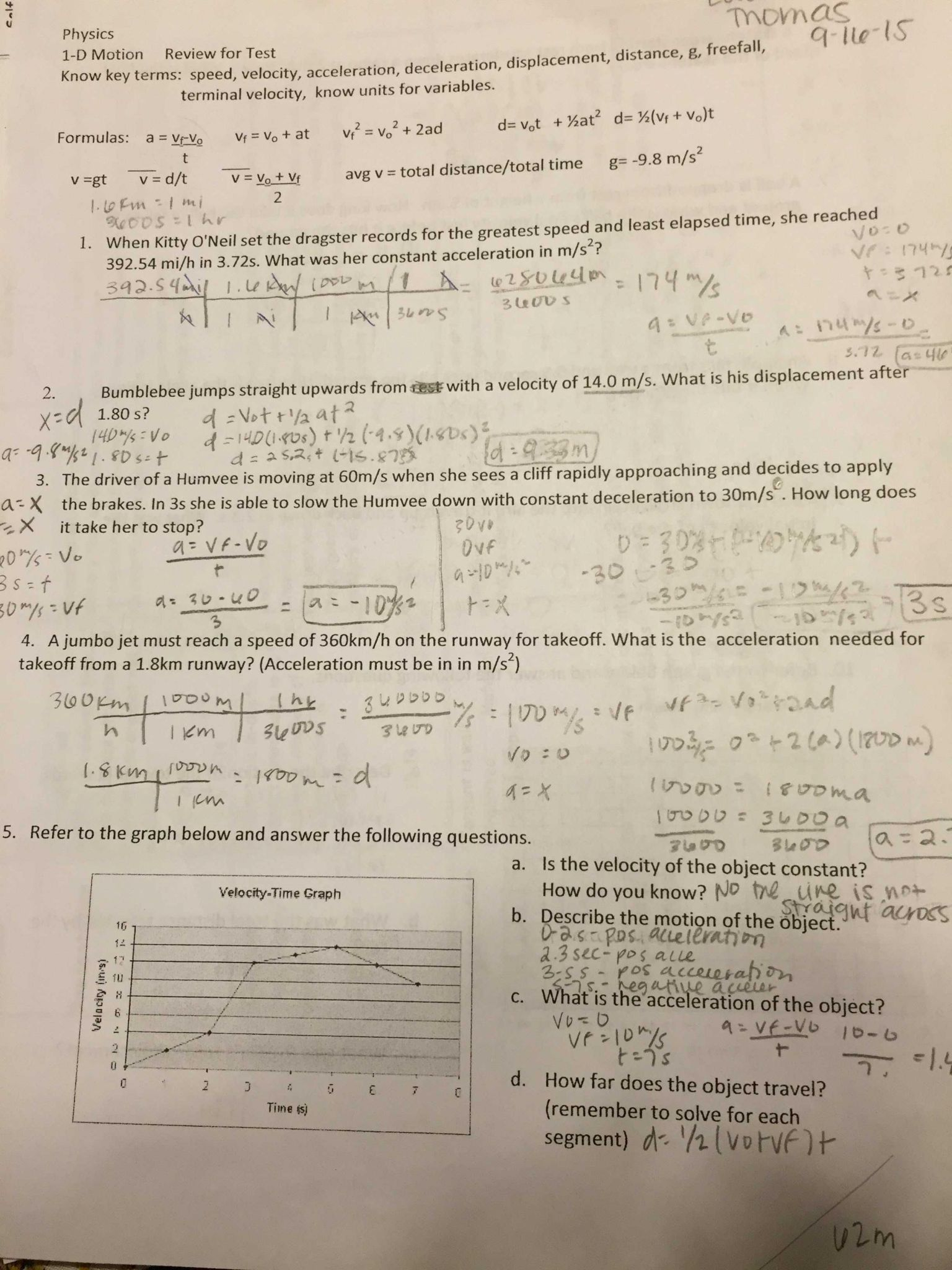 3 2 Velocity Worksheet Answers
