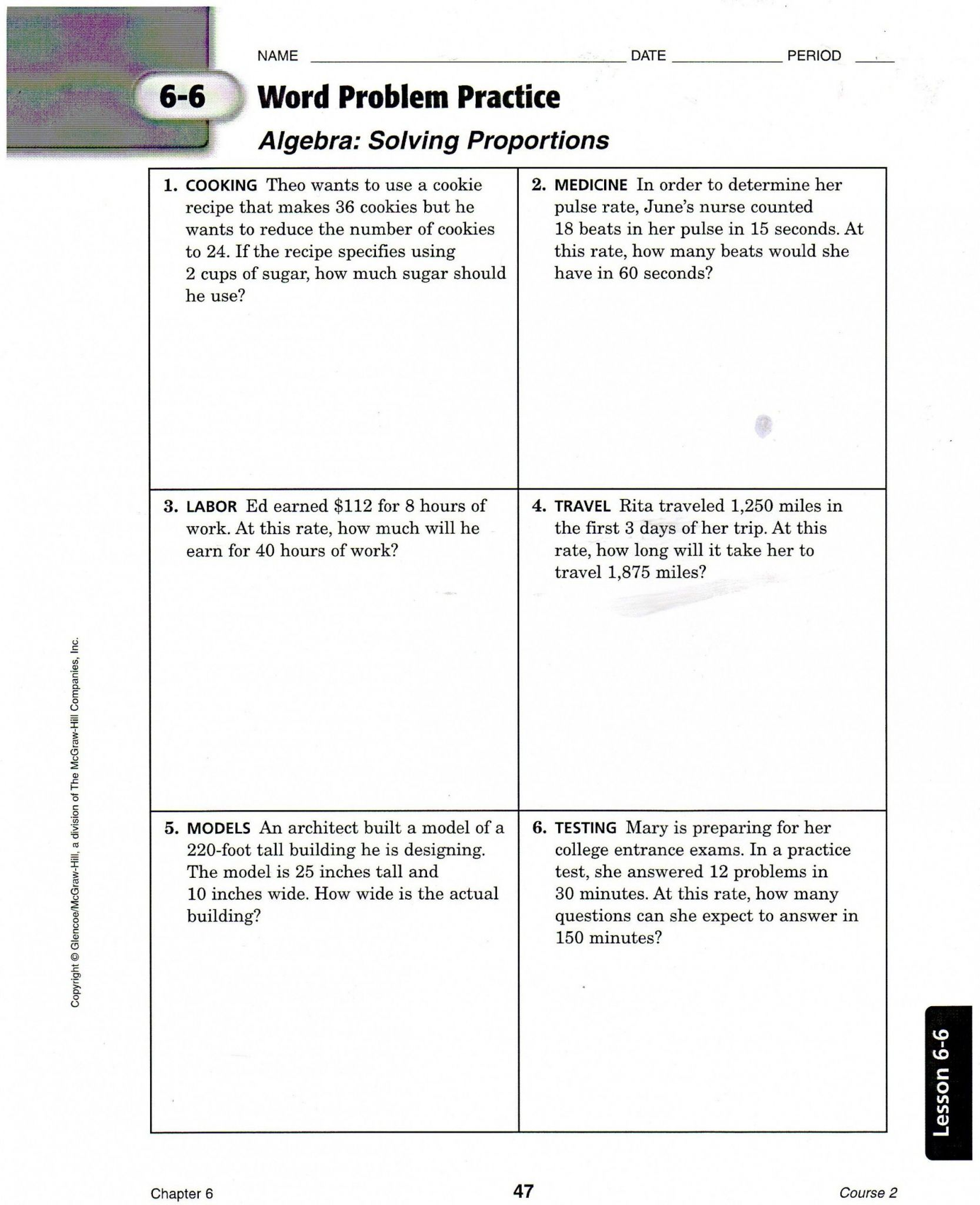 hight resolution of 6th Grade Fractions Word Problems Worksheet   Printable Worksheets and  Activities for Teachers